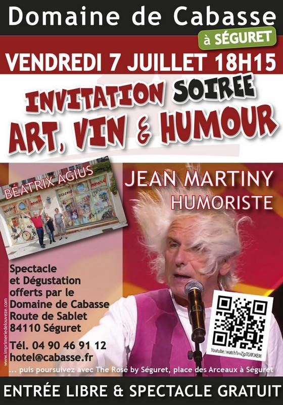SOIRÉE ART, VIN & HUMOUR