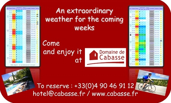 Enjoy the sun and warmth at Domaine de Cabasse
