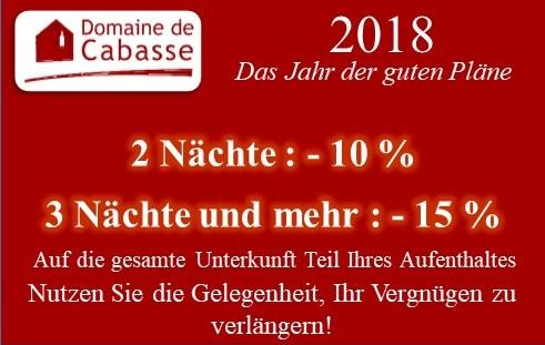 2018 : GUTE PLÄNE NOCH IMMER