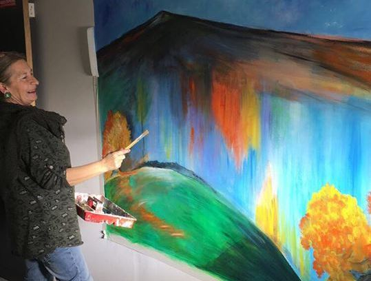 PAINT STAGE : LANDSCAPE WRITING, from figurative to abstract