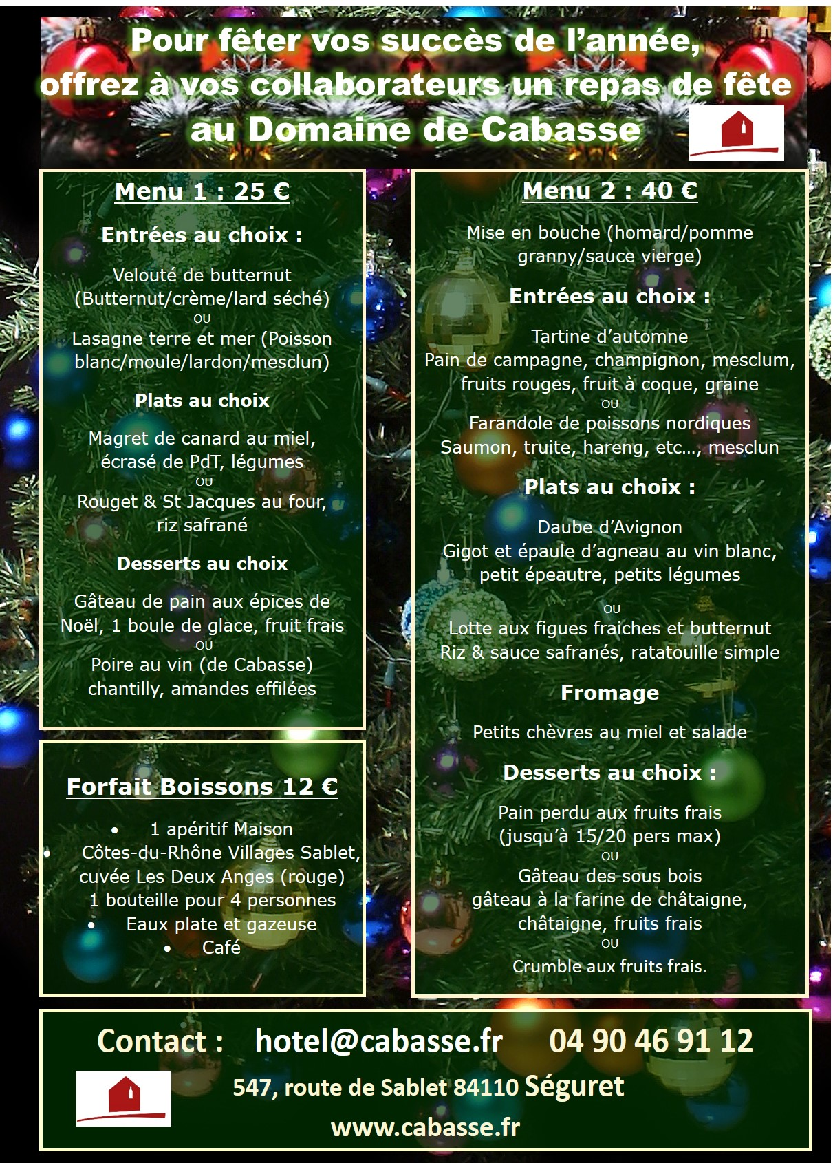 Your company meal at Domaine de Cabasse :)