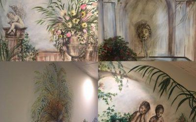 Décoration «Antique» pour le couloir du premier étage du Domaine de Cabasse
