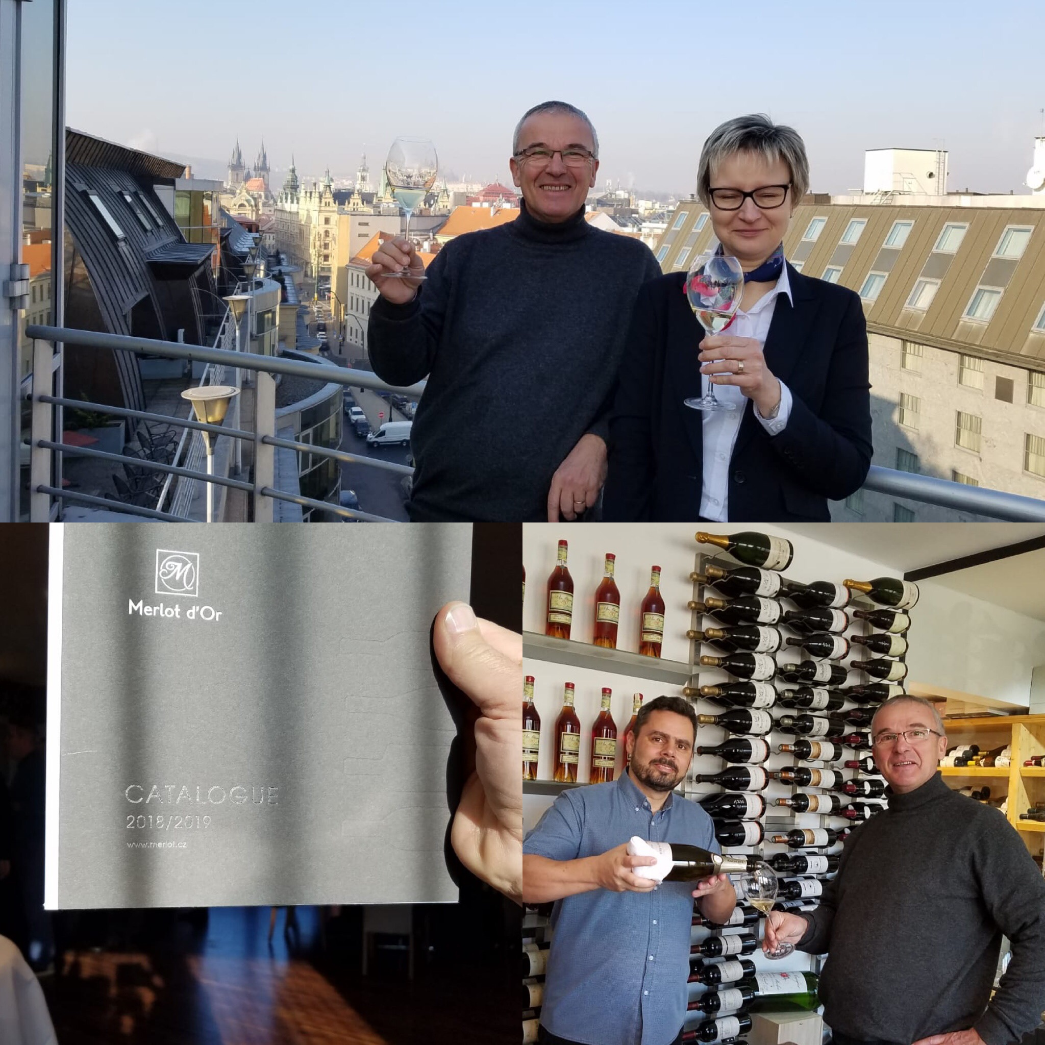 Visit to the Merlot d'Or wine store in Prague 