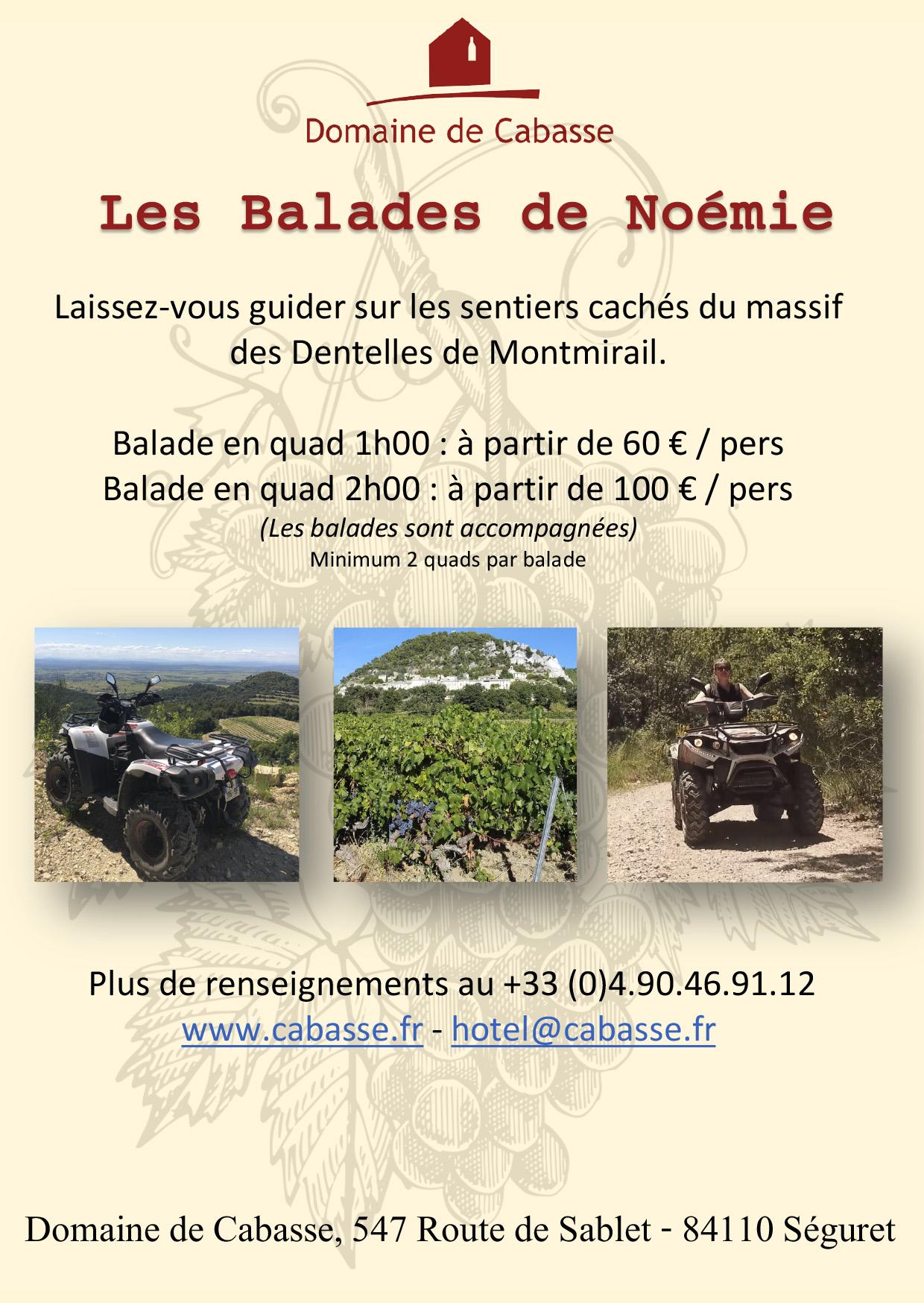 Les Balades de Noémie/ Quadfahrten mit Noémie