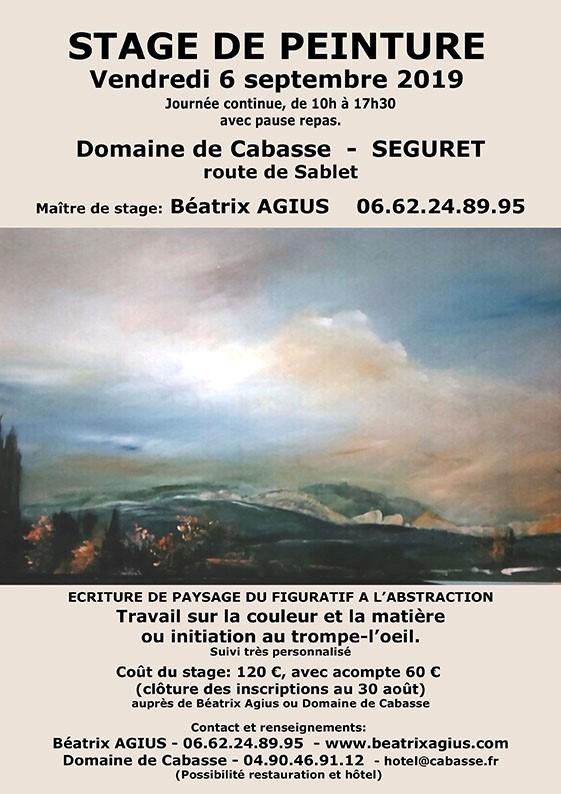 Stage de peinture avec Beatrix Agius
