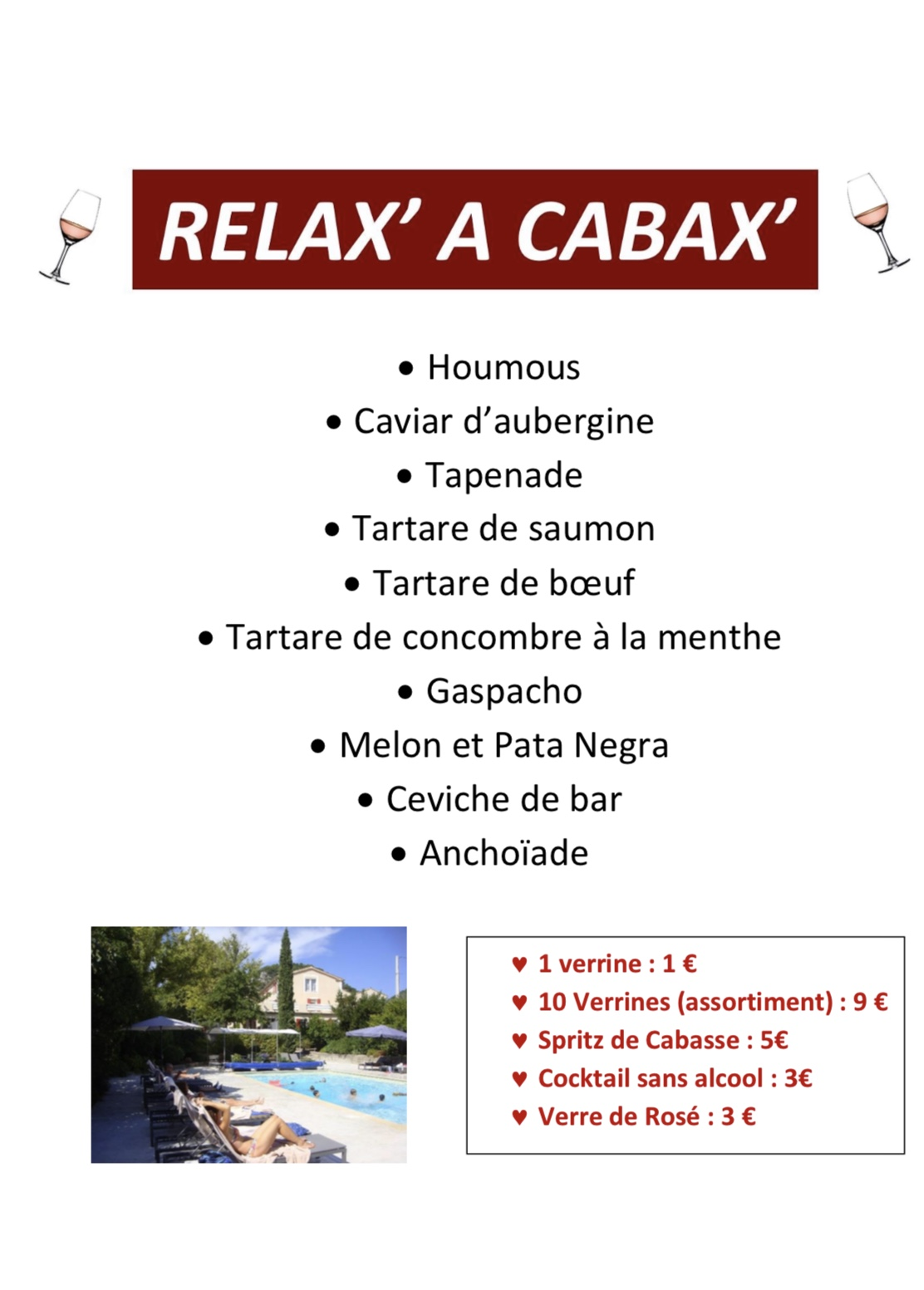 J-1 RELAX' A CABAX'  :)