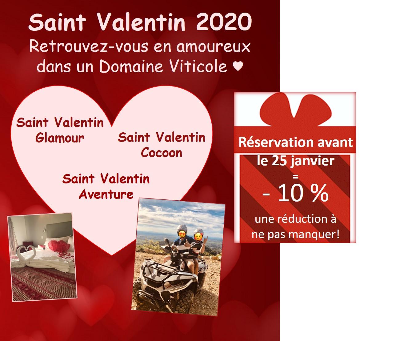 Saint Valentin Aventure, Saint Valentin Cocoon, Saint Valentin Glamour :  au Domaine de Cabasse, chaque couple trouve son bonheur !